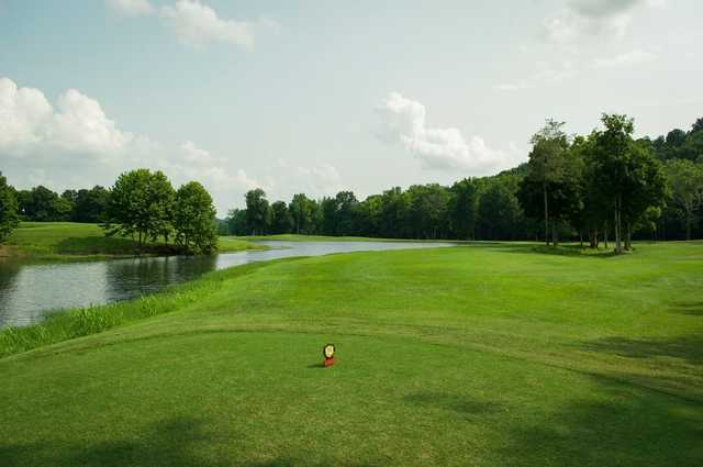A view from a tee at Lucas Oil Golf Course.