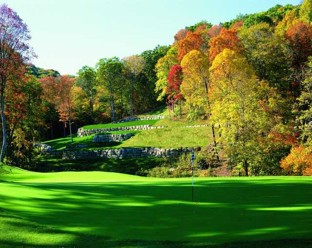 A view of a hole at Olde Stonewall Golf Club.