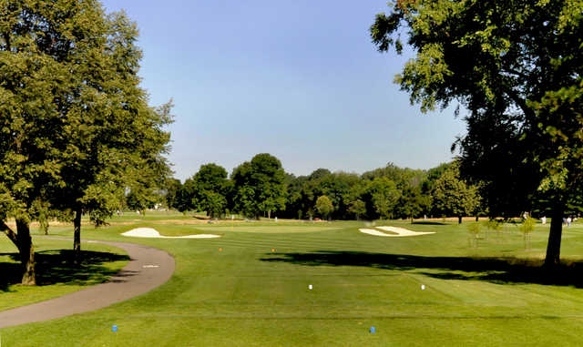 A view from a tee at Airport Golf Course.