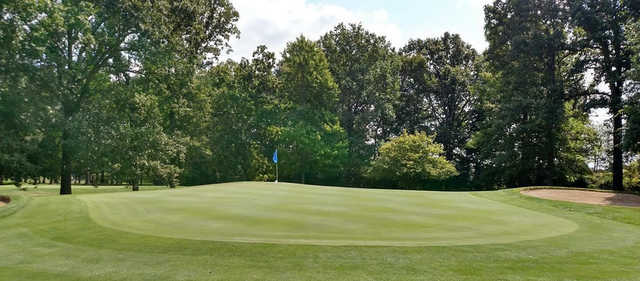 A view of a green at Brookside Golf Course.
