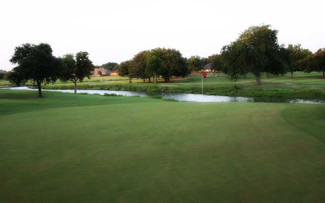 A view of a hole with water coming into play at Duck Creek Golf Course.