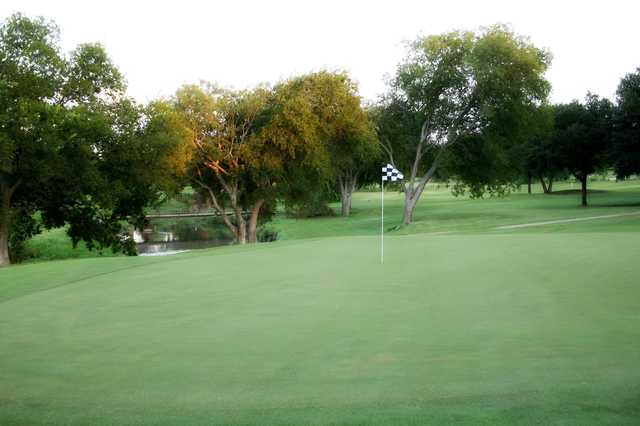 A view of a hole at Duck Creek Golf Course.