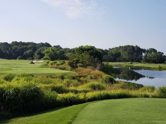 A view of hole #15 and #16 at Eagle's Landing.