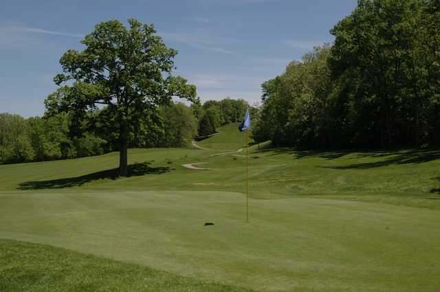 A view of hole #11 at Grand Oak Golf Club.