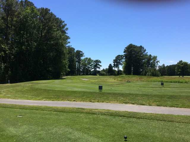 A view from the 17th tee at Great Hope Golf Course.