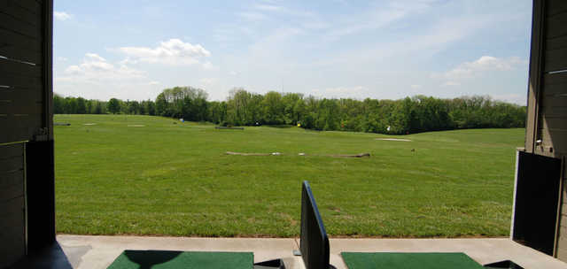 A view of the driving range at Meadow Links & Golf Academy.