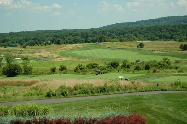 A view of a tee at Neshanic Valley Golf Course.