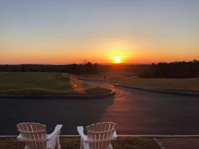 A sunset view from The Brookside Club.