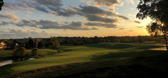 A sunset view from Walden Ponds Golf Club.
