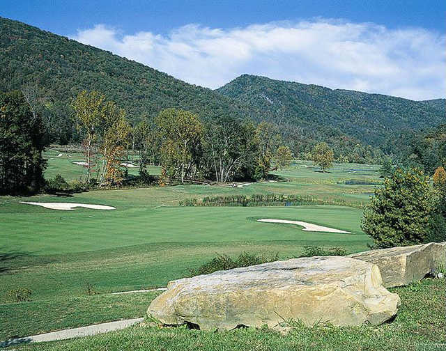A view from Wasioto Winds at Pine Mountain State Park Golf Course.