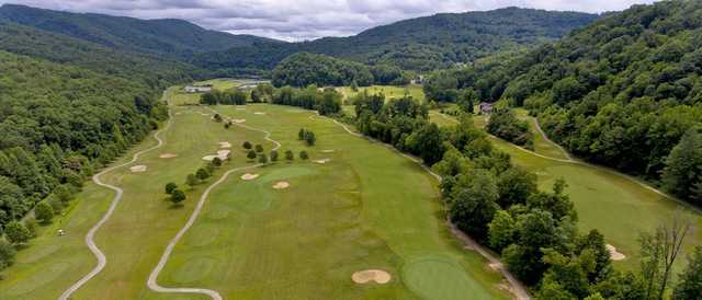 Aerial view from Wasioto Winds at Pine Mountain State Park Golf Course.