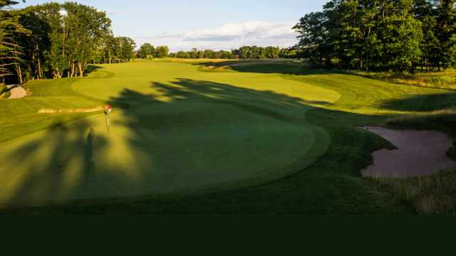 A view of the 2nd green at Wild Rock Championship Course from Wild Rock Golf Club.