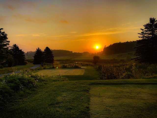 A sunset view from a tee at the Club from Bond Head.