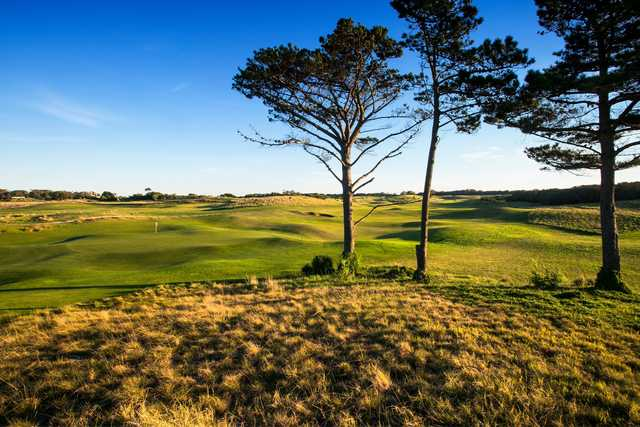 A view of a hole from Moonah Links.