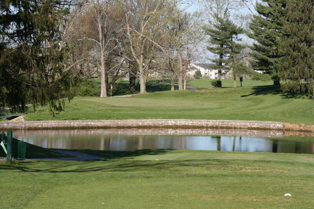View of a green at Tates Creek Golf Course.