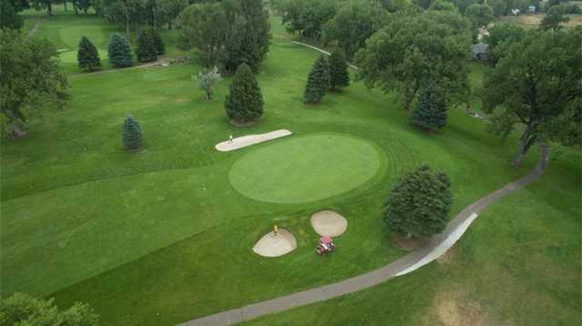 Aerial view from Miles City Town & Country Club