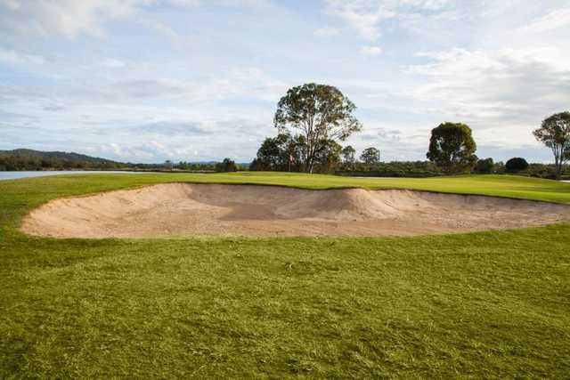 Carbrook 13th green bunker