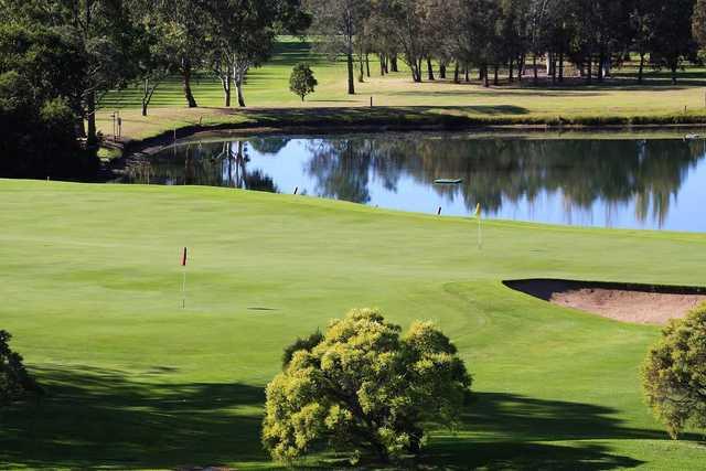 Moruya Golf Club's 18th green