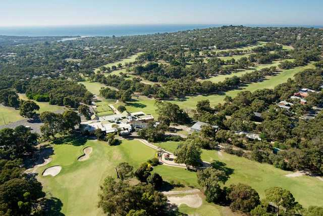 Aerial view from Anglesea Golf Club