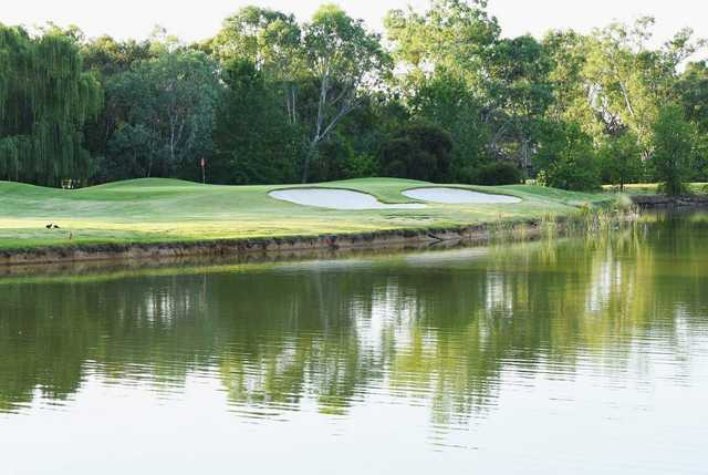View of the 16th hole at Thurgoona Country Club Resort.