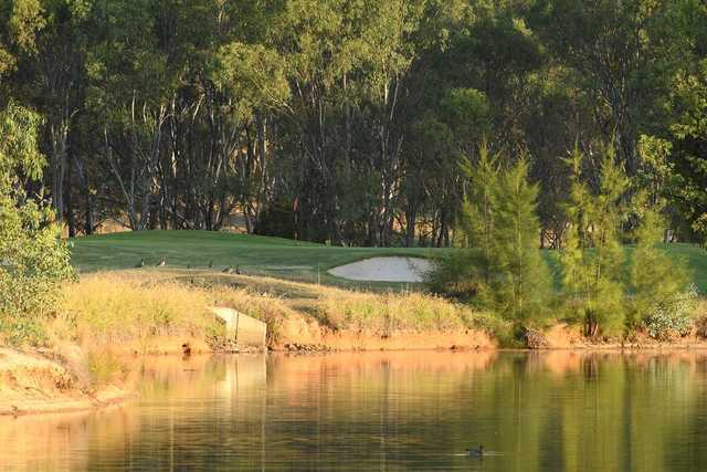 View of a green at Thurgoona Country Club Resort.