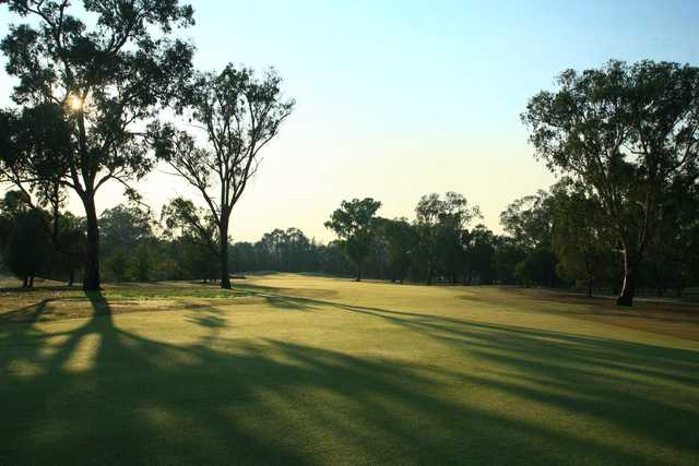 View from a fairway at Thurgoona Country Club Resort.
