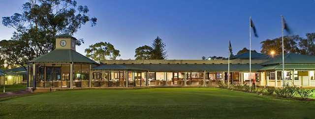 View of the clubhouse at Royal Perth Golf Club.