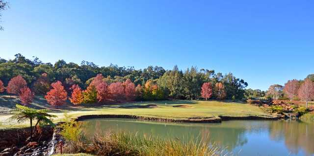 View of the 18th hole at Araluen Golf Resort.