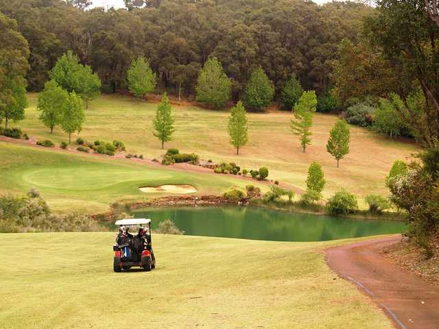 View of the 9th hole at Araluen Golf Resort.