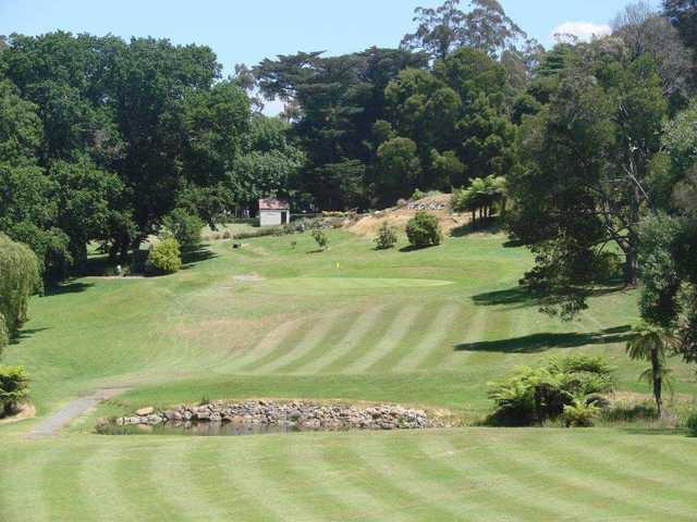View of a fairway at Warburton Golf Club.