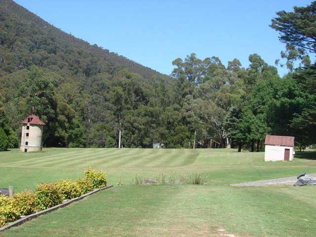 View from the 1st fairway at Warburton Golf Club.