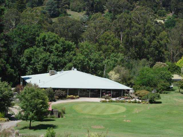 View of the clubhouse at Warburton Golf Club.