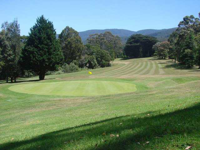 Looking back from a green at Warburton Golf Club.
