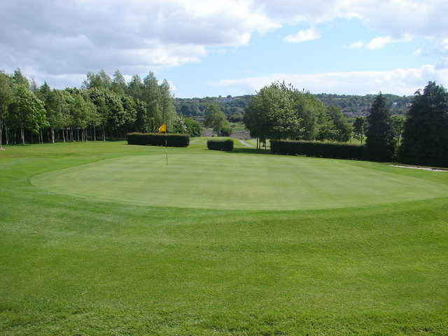 View of the 18th hole at Mahon Golf Club.