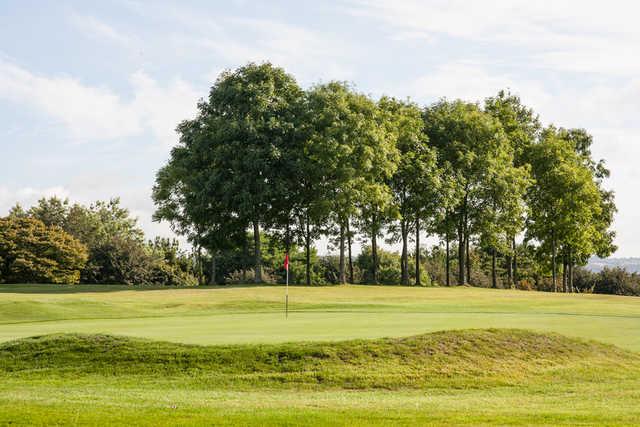 View of a green at Mahon Golf Club.