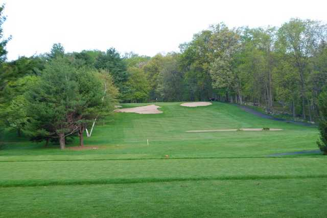 A view of the par-4 7th fairway from Pines course at Blue Hill Golf Course