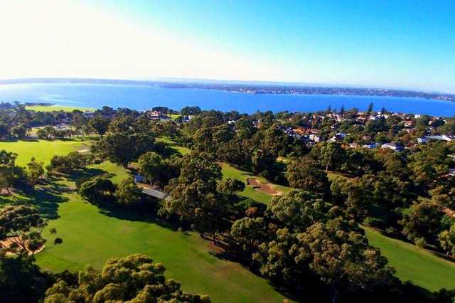 Nedlands Golf Club aerial drone pic