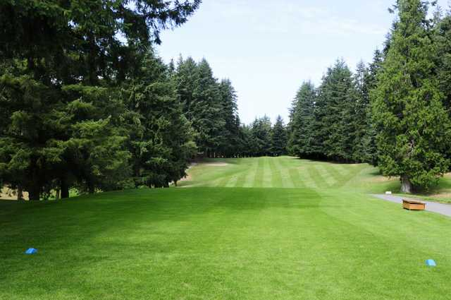 A from a tee at Peace Portal Golf Club.