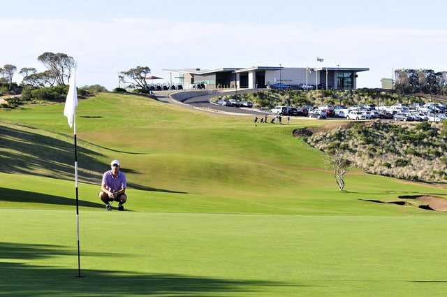 Portsea Golf Club's 1st hole