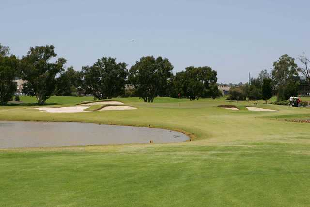 View from Bankstown Golf Club's 17th hole