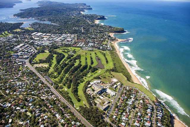 Mona Vale: aerial view