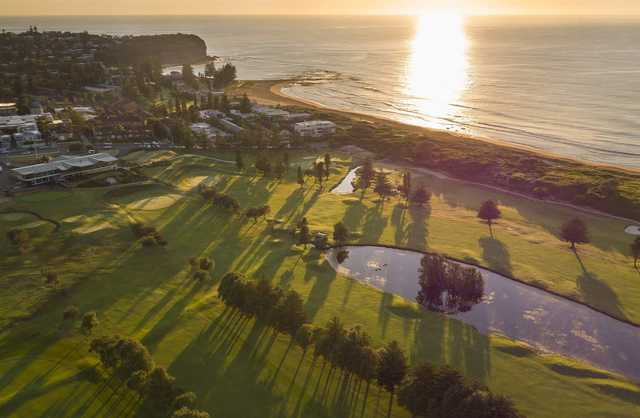 Aerial view from Mona Vale Golf Club