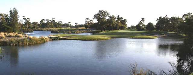 View of the 2nd green at Patterson River Golf Club.