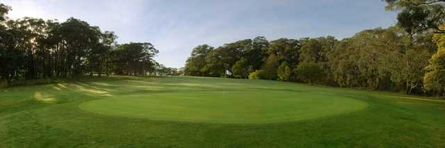 Looking back from a green at Cardinia Beaconhills Golf Links.