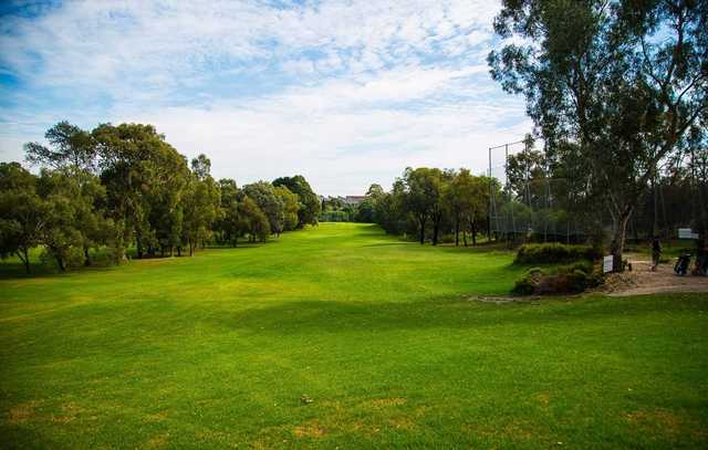View from a tee at Northcote Municipal Golf Links.