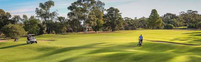 Panoramic view from Mildura Golf Resort.