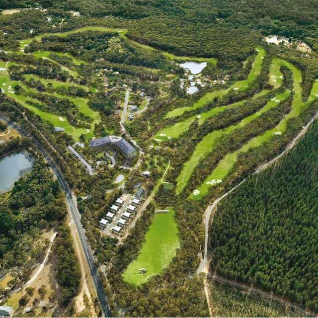 Aerial view of RACV Goldfields Resort.
