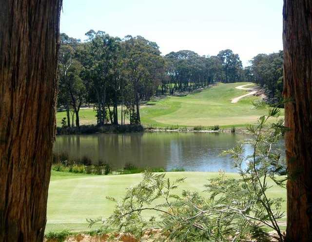 Looking back from the 15th green at RACV Goldfields Resort.