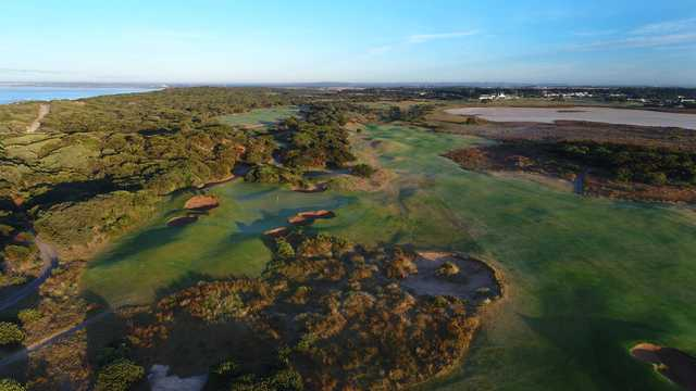 Aerial view from 13th Beach Golf Links.