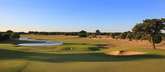Panoramic view from 13th Beach Golf Links.
